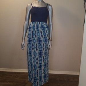 Lily Rose Ikat maxi dress